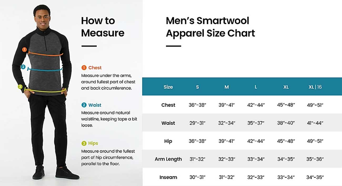 Smartwool Mens Size Chart
