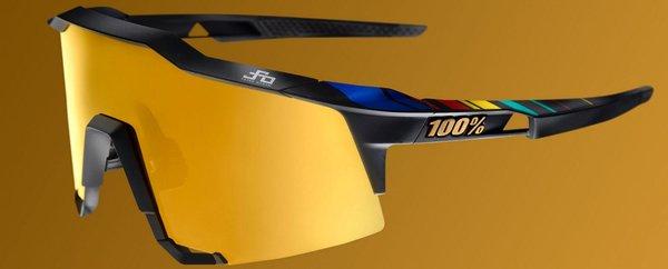 100% SpeedCraft Soft Tact Black P1 W/ Gold Mirror