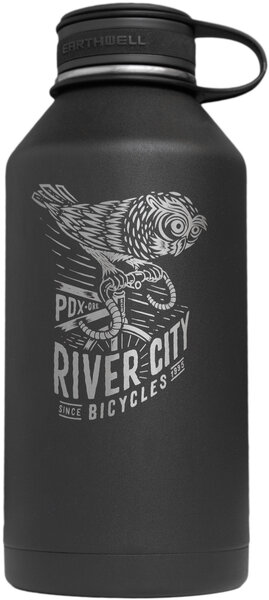 Earthwell RCB Woodland Artist Series Growler, 64 oz Color: Black Owl