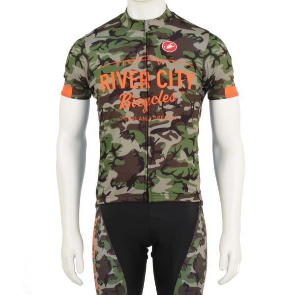 River City Bicycles Camo Castelli Jersey, Short Sleeve