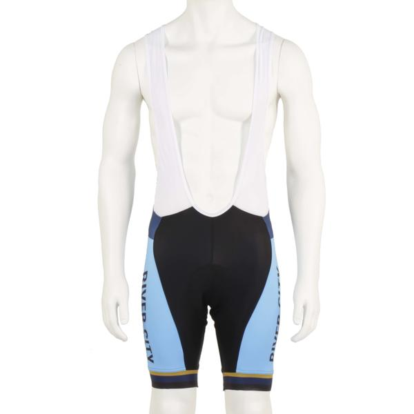 River City Bicycles Light Blue/Gold Castelli Bibshort