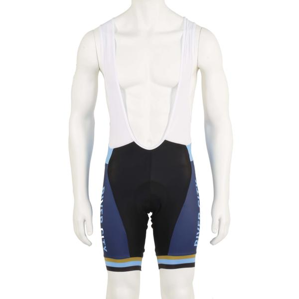 River City Bicycles Navy/Light Blue/Gold Castelli Bibshort