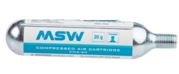 MSW 20g CO2 Cartridge, Single, Threaded