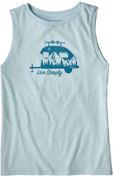 Patagonia W's Live Simply Trailer Organic Muscle Tee