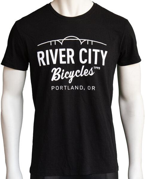River City Bicycles Bridge Logo Men's Tee - Black