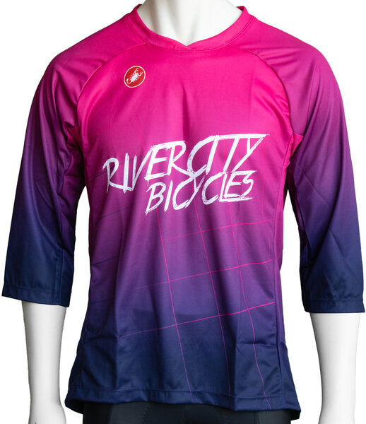 River City Bicycles Castelli Purple Fade MTB Jersey