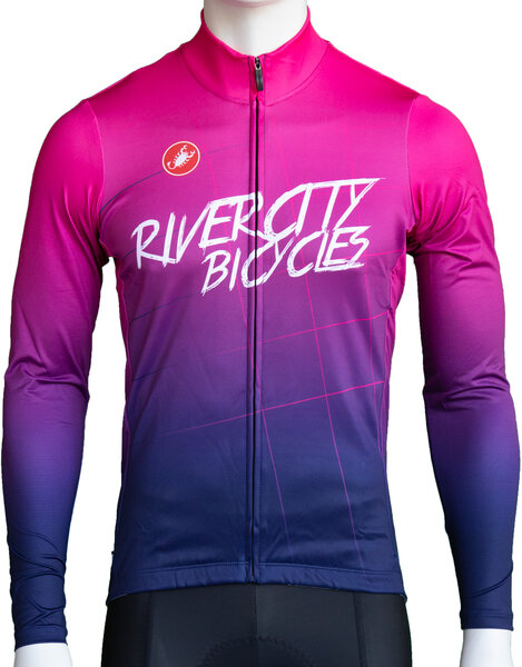 River City Bicycles Castelli Purple Fade LS Jersey