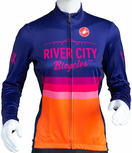 River City Bicycles Castelli Stripe LS Jersey - Women's