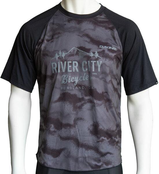 River City Bicycles Dakine Dropout SS Jersey - Black / Dark Ashcroft