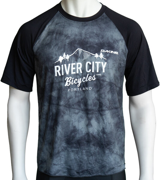 River City Bicycles Dakine Dropout SS Jersey - Black Haze