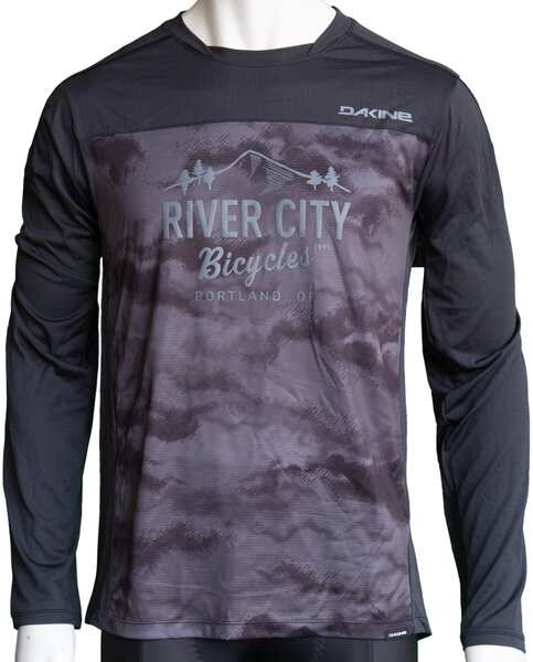 River City Bicycles Dakine Syncline MTB LS Jersey - Black / Dark Ashcroft