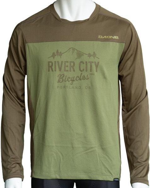 River City Bicycles Dakine Dropout LS Jersey - Olive