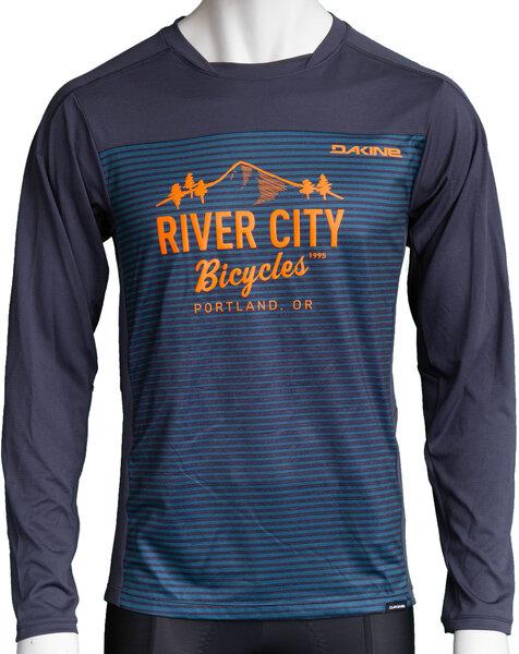 River City Bicycles Dakine Syncline MTB LS Jersey - Slate Blue Stripe