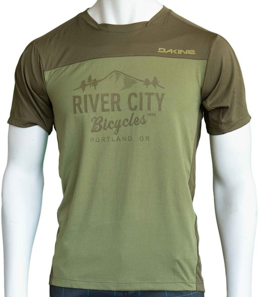 River City Bicycles Dakine Syncline MTB Jersey - Olive