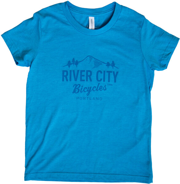 River City Bicycles Bridge Logo Youth Tee - Blue