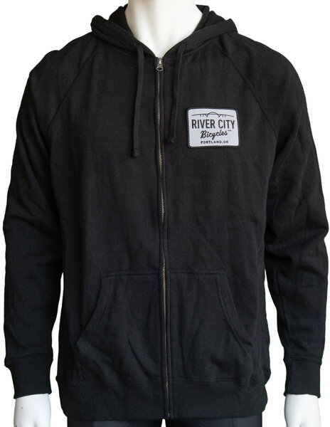 River City Bicycles Patch Hoodie - Black