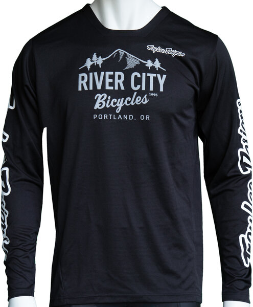 River City Bicycles Troy Lee Designs Sprint LS Jersey - Black