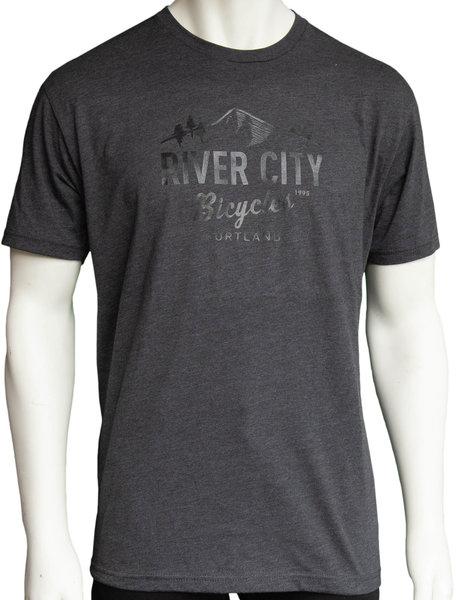 River City Bicycles Mountain Logo Men's Tee - Charcoal