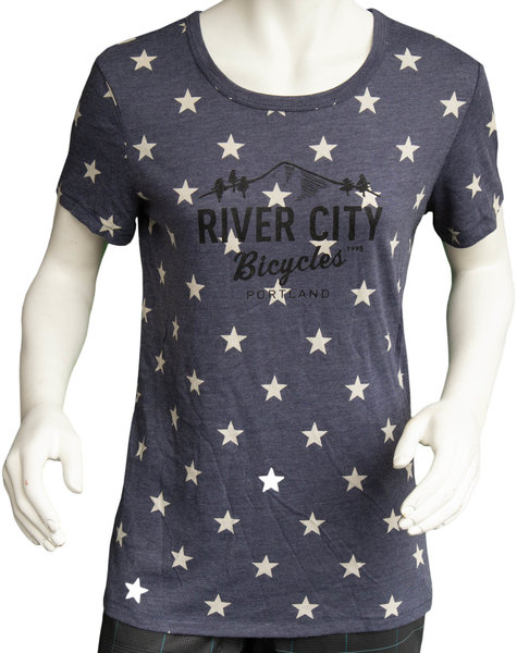 River City Bicycles Star + Logo Women's Tee