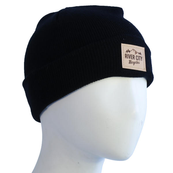 River City Bicycles Wharf Knit Beanie, MTN LOGO Patch