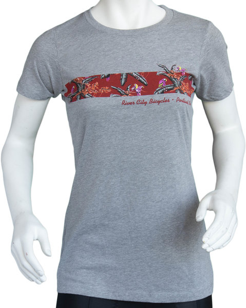 River City Bicycles Giro Women's Tech Tee - Grey / Red