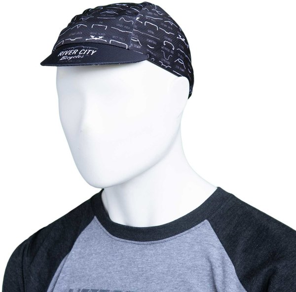 River City Bicycles Handlebar Sport Cycling Cap