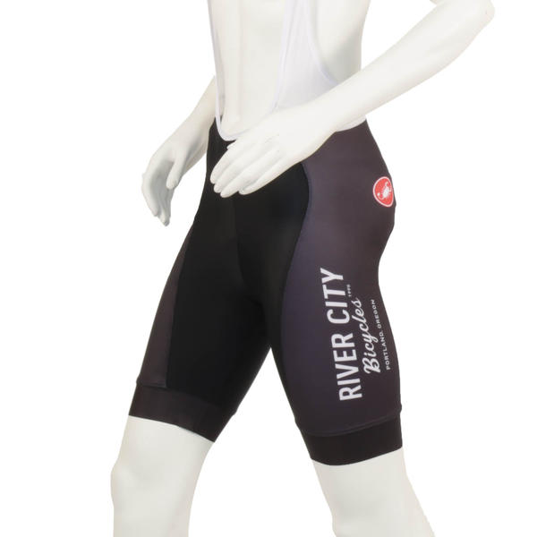 River City Bicycles Women's Black Castelli Bibshort
