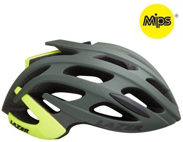 Lazer Sport Blade+ MIPS - Dark Green Flash Yellow