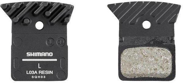 Shimano L03A Disc Brake Pads, Resin w/ Fins