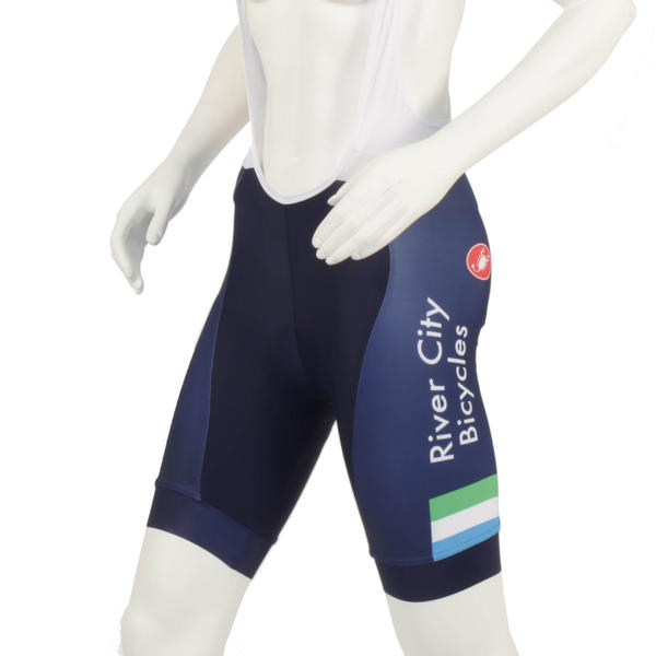 River City Bicycles Castelli Navy Stripe Women's Bibshort