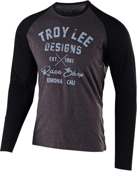 Troy Lee Designs Vintage Race Shop LS Tee - Charcoal