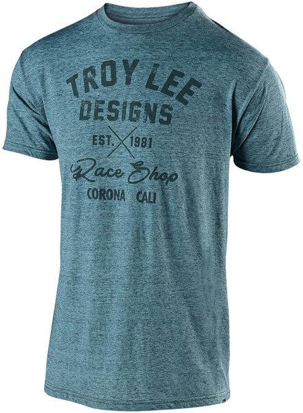 Troy Lee Designs Vintage Race Shop Tee - Lagoon
