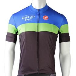 River City Bicycles Castelli Short Sleeve Jersey - Blue/Green/Black