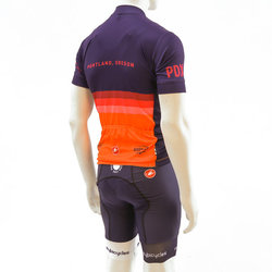 River City Bicycles Castelli Orange Stripe Jersey, SS