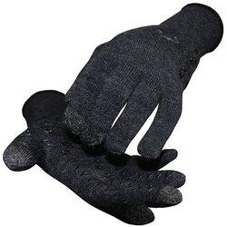 DeFeet Duraglove ET Wool Gloves - Charcoal w/ Black Grippies