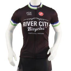 River City Bicycles Women's Black Castelli Jersey, Short Sleeve