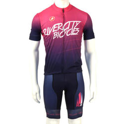 River City Bicycles Purple Fade Castelli Jersey, Short Sleeve