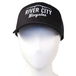 River City Bicycles Trucker Cap, Embroidered Bridge Logo,