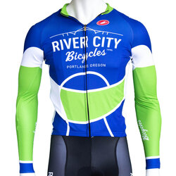 River City Bicycles Castelli Blue/Green LS Jersey