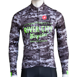 River City Bicycles Castelli Digi Camo LS Jersey
