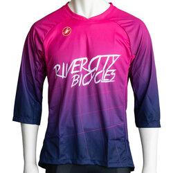 River City Bicycles Castelli Purple Fade MTB Jersey