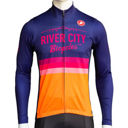 River City Bicycles Castelli Orange Stripe LS Jersey