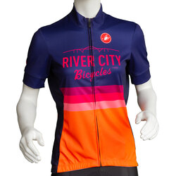 River City Bicycles Castelli Orange Stripe Women's SS Jersey