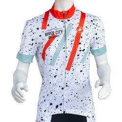 River City Bicycles Castelli Splatter Paint Women's SS Jersey