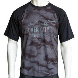 River City Bicycles Dakine Dropout SS Jersey - Black / Dark Ashcroft