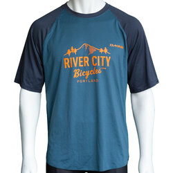 River City Bicycles Dakine Dropout SS Jersey - Slate Blue