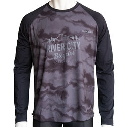 River City Bicycles Dakine Dropout LS Jersey - Black / Dark Ashcroft