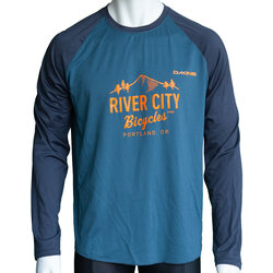 River City Bicycles Dakine Dropout LS Jersey - Slate Blue