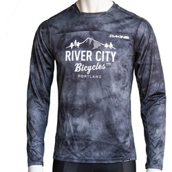 River City Bicycles Dakine Syncline MTB LS Jersey - Black Haze