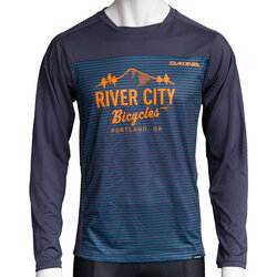 River City Bicycles Dakine Syncline MTB LS Jersey - Slate Blue Stripe
